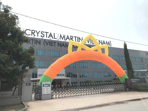 Cân điện tử 40 tấn tại nhà máy Crystal Martin