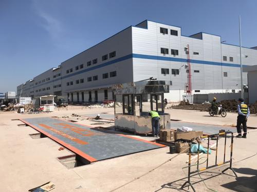 Trạm cân điện tử 100 tấn lắp đặt tại CN Foxconn Bắc Giang