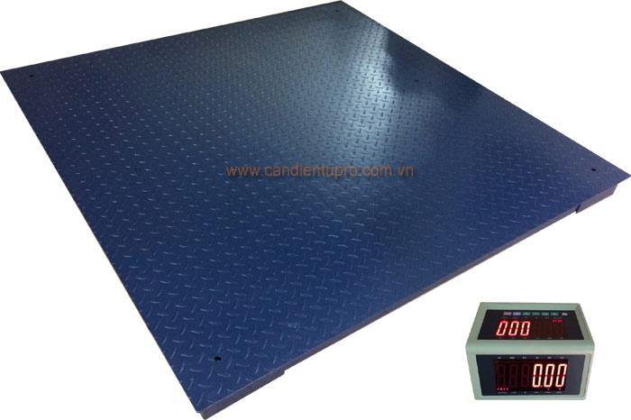 Cân sàn điện tử 1 tấn - 5 tấn 2 màn hình
