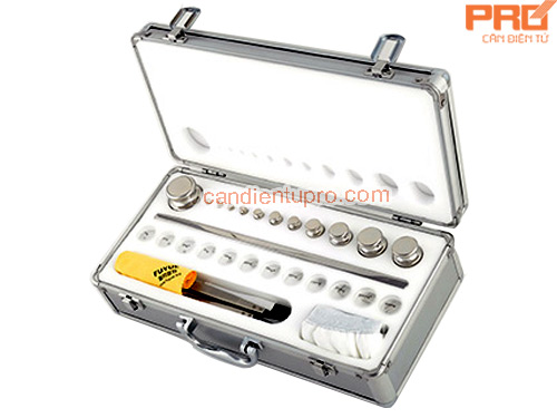 LABORATORY WEIGHTS SET E2, F1 (1MG-500G) title=