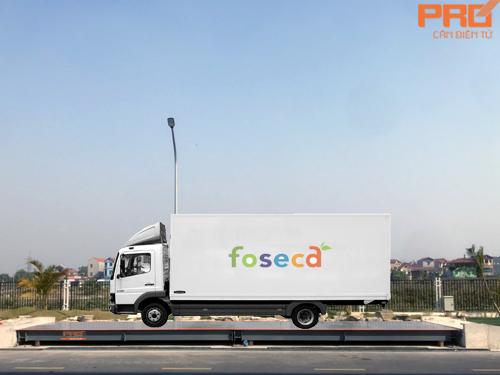 Hệ thống cân công nghiệp tại Công ty Foseca Việt Nam